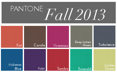 Fall 2013 Colors- Linda McDougald Design | Postcard from Paris