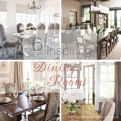 Six Inspiring Dining Rooms- Linda McDougald Design | Postcard from Paris Home
