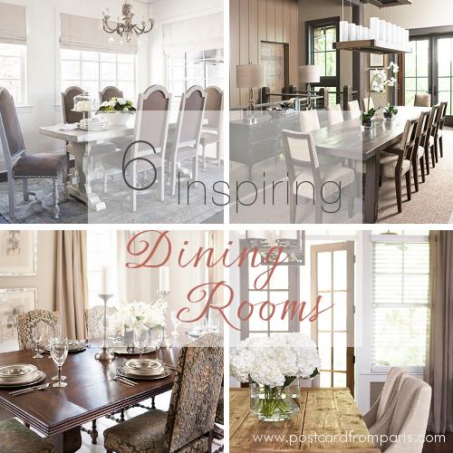 Six Inspiring Dining Rooms- Linda McDougald Design | Postcard from Paris Home