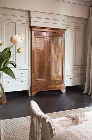 Antique Furniture Built Ins- Linda McDougald Design | Postcard from Paris Home
